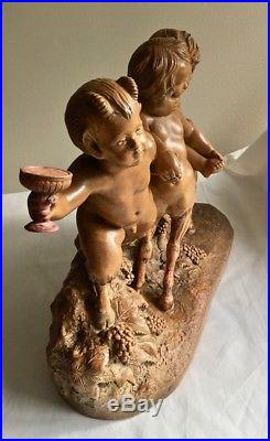 Terra Cotta A Calendi Antique French Makers Mark 19th c Signed 03718