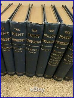 The Pulpit Commentary complete 49 volume set vintage antique Old & New Testament