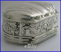 Unusual Sterling Silver Religious Table Snuff Box 1894 Victorian Antique Dutch