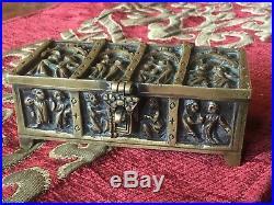 Vintage Bronze / Brass Religious Box / Casket Erhard & Sohne style
