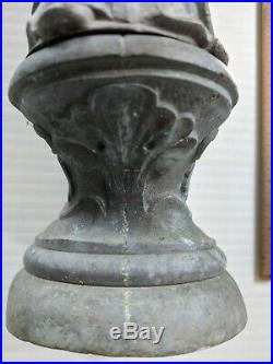 Vintage Bronze statue St Michael archangel religious warrior 16 inch