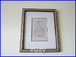 Vintage Felicien Rop Art Print Erotic Artwork Antique Etching Amours et Priapees
