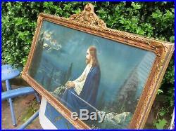 Vintage Ornate Wooden Picture Frame Pediment Religious Jesus Garden Gethsemane