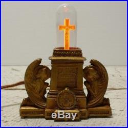 Vintage Religious INRI Jesus Christ Crucifix Aerolux Light Bulb WORKS antique