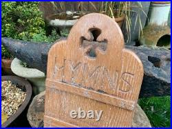 Vintage Wall Mounted Oak Church Hymn Board Old Religious Antiques Chapel