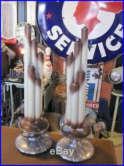 Vtg Antique Funeral Mortuary Church Religious Electrified Candelabra Sconces