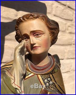 WONDERFUL Antique Religious French Statuary, Christ on Calvary Large & Stunning