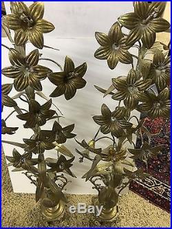 WOW! Antique Religious Alter Shrine Bronze Brass Flower Urn Church Ornaments 35