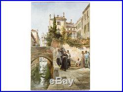William Henry Pike RA Religious Antique Oil Painting Palazzo Dario Venice